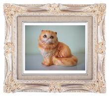 Антикварный фарфор, статуэтки котов, фарфоровые статуэтки котов