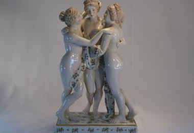 купить фарфор, статуэтка фарфоровая три грации, три грации, статуэтки фарфоровые, Аглая, Талия, Евфросиния, фарфор Германия