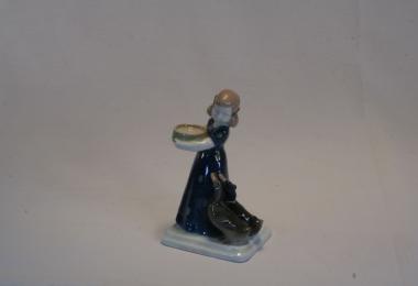 купить фарфор, купить статуэтку фарфоровую девочка с утками, девочка с двумя уточками, художник Альберт Каасман (Albert Caasmann), Розенталь (Rosenthal)
