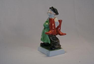 купить фарфор, купить статуэтку  фарфоровую сапожник, мальчик с сапогами, Херенд (Herend) фарфор Венгрия