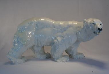 купить фарфор, статуэтка фарфоровая медведь, фарфор Meissen, мейсен, фарфоровый медведь, медведь фарфровый, мишка фарфороый, белый медведь,  статуэтки фарфоровые, фарфор скульптор Отто Ярл (Otto Jarl)
