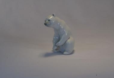 купить фарфор, статуэтка фарфоровая белый медвежонок,белый медведь фарфоровый,  Ладро,  (Lladro)