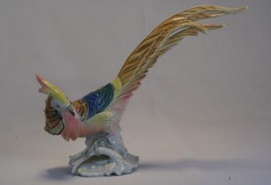 купить фарфор,фигура фарфоровая райская птица, золотой фазан фарфоровый, фарфор Германия, фарфор Карл Энс (Karl Ens) купить, немецкие статуэтки фарфоровые