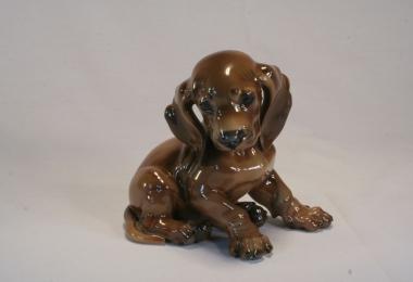 купить фарфор, статуэтка фарфоровая такса, щенок таксы, Теодор Кернер (Theodor Kaerner), (1884-1966), Розенталь (Rosenthal)
