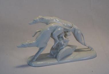 купить фарфор, статуэтка фарфоровая борзые, фарфор Rosenthal, розенталь, фарфоровые собаки, статуэтки фарфоровые, фарфор художник  Г. Шлипштайн, Gerhard Schliepstein