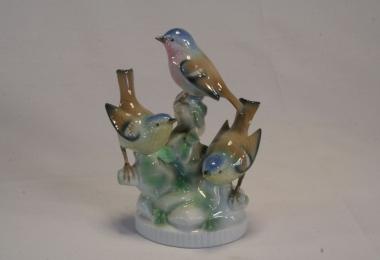купить фарфор, фигурка фарфоровая синички, птички фарфоровые, фарфор Германия, немецкие статуэтки фарфоровые
