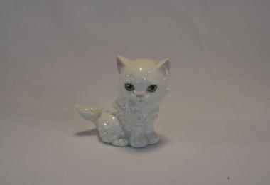 купить фарфор, фигурка фарфоровая котик, белый сидящий котенок фарфоровый, фарфор Гебель (Goebel ), статуэтки фарфоровые, фаянс,  керамика