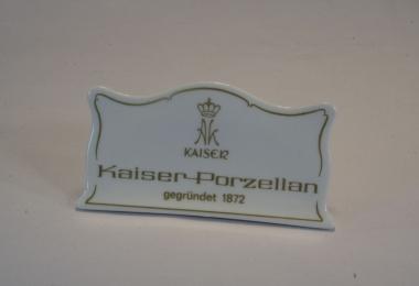 купить фарфор,табличка фарфоровая Кайзер,  фарфор Германия, немецкий фарфор, Кайзер (Kaiser) купить
