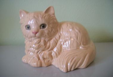 купить фарфор, фигурка фарфоровая кот, котик фарфор, палевый  кот,  Гебель (Goebel) купить, статуэтки фарфоровые, фаянс, керамика