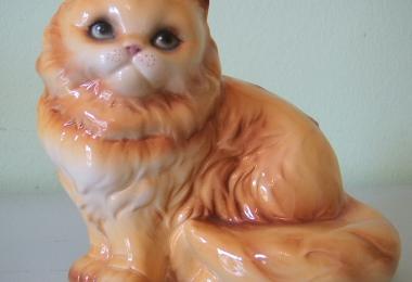 купить фарфор, фигурка фарфоровая кот, котик фарфор, рыжий кот,  Гебель (Goebel) купить, статуэтки фарфоровые, фаянс, керамика