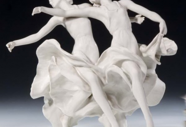 купить фарфор, купить статуэтку фарфоровую танцовщицы, императорский вальс, Kaiserwalzer,  художник Лора Фридрих Гронау (L.Friedrich Gronau), Розенталь (Rosenthal), фарфор Розенталь