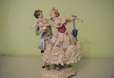 купить фарфор, пара фарфоровая, любовная пара, кавалер и девушка, галантная пара фарфоровая, любовное свидание, саксоннский фарфор, Рудольштат, Rudolstadt,  Германия.