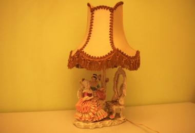 купить фарфор, лампа фарфоровая, лампа настольная фарфоровая , лампа кружевной фарфор, лампа фарфор Купс В. Ритих (Kups W.Rittirsch Porzellan)