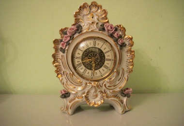 купить фарфор, часы  фарфоровые, часы настольные фарфоровые , часы фарфор, часы фарфор Дрезден (Dresden)