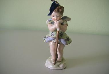 купить фарфоровую статуэтку, статуэтка фарфоровая, пути с посохом, девочка ангел, ангел с посохом, Хутченройтер  (Hutschenreuther), пути фарфор