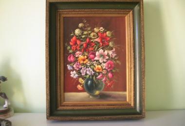 картина натюрморт, купить картину, натюрморт с  цветами, картина цветы, холст, масло, натюрморт, Голдберг(Goldberg),