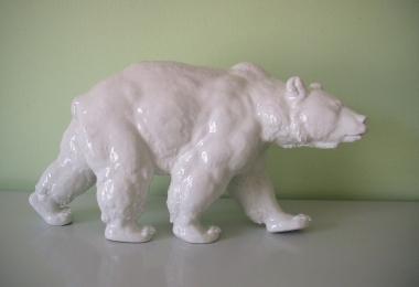 купить фарфор, статуэтка фарфоровая медведь, фарфор Meissen, мейсен, фарфоровый медведь,  гризли, статуэтки фарфоровые, фарфоровый медведь, медведь фарфровый, мишка фарфороый, белый медведь