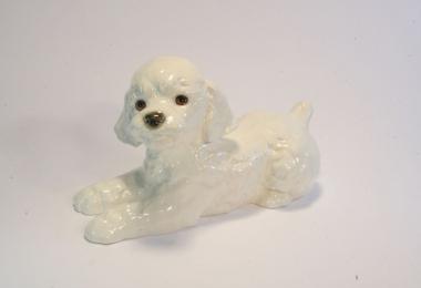 купить фарфор,фигурка фарфоровая  белый пудель, щенок пуделя фарфоровый, фарфор Гебель (Goebel ) купить, статуэтки фарфоровые, фаянс,  керамика