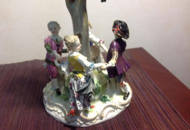купить фарфор,  хоровод фарфор Мейсен, хоровод вокруг дерева фарфор Мейсен, дети под деревом фарфор Мейсен, статуэтки фарфоровые, хоровод вокруг дерева, скульптор И. Кендлер, J. J. Kaendler