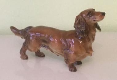 купить фарфоровую статуэтку, статуэтка фарфоровая собака, такса фарфор, такса фарфоровая, такса, купить таксу, купить таксу фарфор,  Хутченройтер (Hutschenreuther)