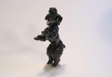 купить фарфор, статуэтка фарфоровая пудель,черный пудель, пудель, собака фарфоровая,  Фриц Хайденрайх (Fritz Heidenreich), Розенталь (Rosenthal)