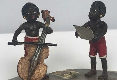 Статуэтка музыканты, фабрика бермана, бронза венская, статуэтка бронзовая, венка, венка миниатюра, музыканты венка, венская бронза музыканты,  венка два музыканта.
