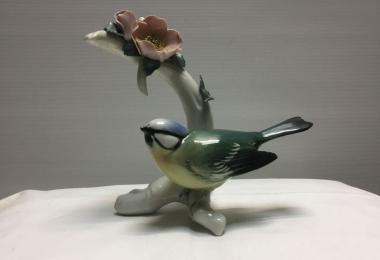 купить фарфоровую статуэтку ,синичка  фарфор, статуэтка фарфоровая синичка  синичка  Карл Энс,  птичка Карл Энс, Карл Энс,  Karl Ens