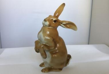 купить фарфоровую статуэтку заяц, статуэтка фарфоровая заяц, заяц фарфор, Хутченройтер, Hutschenreuther, кролик фарфор