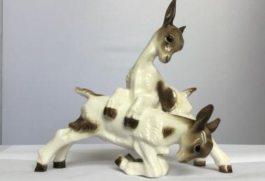 купить козлёнок фарфор, статуэтка фарфоровая козлёнок, козлёнок фарфор , козлёнок Hutschenreuther,  козлята  Hutschenreuther, козлята  фарфор, козлята  фарфоровые купить