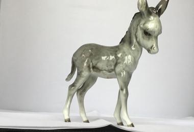 купить фарфоровую статуэтку осел, статуэтка фарфоровая ослик,осел фарфоровый, ослик фарфор Хутченройтер, ослик ишак Hutschenreuther