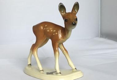 купить фарфоровую статуэтку  косуля, статуэтка фарфоровая косуля, оленёнок фарфоровый, косуля фарфор Cortendorf ,  оленёнок Cortendorf ,  косуля фарфор