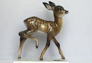 купить фарфоровую статуэтку  косуля, статуэтка фарфоровая олень, олень фарфоровый,  косуля фарфор Розенталь, Rosenthal,  косуля  Rosenthal, Вилли Мюнх-Кхе , W. Muench-Khe,  оленёнок фарфор