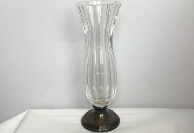 купить вазочку, вазочка хрусталь с  серебром, вазочка хрустальная, вазочка, серебро.