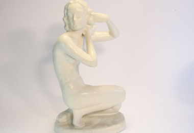 купить фарфор, фарфоровая статуэтка обнаженная, обнаженная на коленях из фарфорра, фарфор Германия