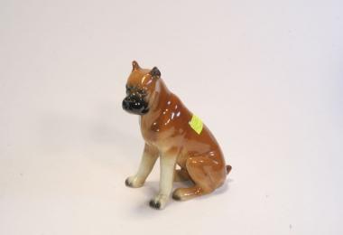 купить фарфоровую фигуру, фигура собака,  боксер фарфор, фарфор Германия