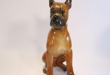 купить фарфор,фигурка фарфоровая  собака боксер,  Гебель (Goebel ) купить, статуэтки фарфоровые, фаянс,  керамика