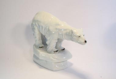 купить фарфор, фигурка фарфоровая белый медведь, фарфоровый медведь купить, статуэтки фарфоровые, Нойндорф (Neundorf)