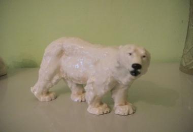 купить фарфор, статуэтка фарфоровая белый медведь, Отто Ярл (Otto Jarl), Мейсен (Meissen), северный медведь