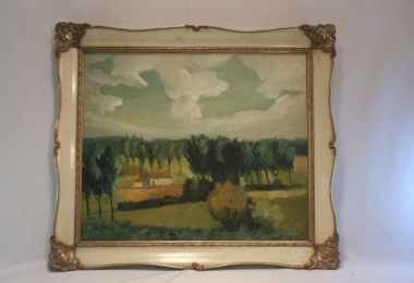 картина пейзаж, холст, масло, купить картину, изображающую природу,живопись в стиле 20 годов , интерьерный пейзаж.