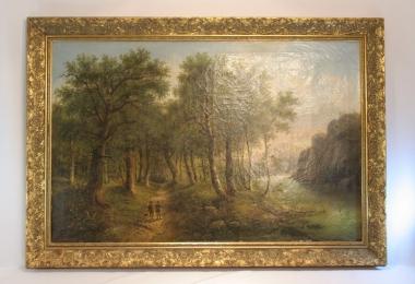картина пейзаж, купить картину, изображающую природу,пейзаж в классическом стиле, интерьерный пейзаж, Эдуард Бэм, Eduard Boehm