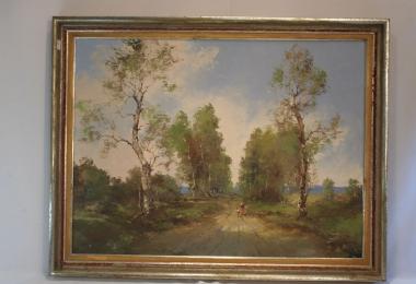 картина сельский пейзаж, купить картину, холст, масло, пейзаж, классический пейзаж, деревенский пейзаж