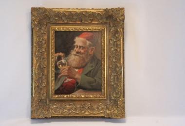 картина  портрет еврейского старца, масло, доска, классическая, академическая живопись, иудаика, купить портрет