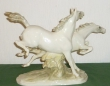 купить фарфоровую статуэтку, статуэтка фарфоровая пара лошадей, лошади фарфоровые, Хутченройтер (Hutschenreuther), художник М.Фриц (M.H.Fritz)