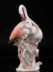 купить фарфор, фигура фарфоровая фламинго,  фламинго  фарфоровый, два фламинго  фарфоровый,  розовые фламинго фарфор, фарфор Германия, фарфор Карл Энс (Karl Ens) купить, немецкие статуэтки