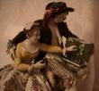 купить фарфор, пара фарфоровая, любовная пара, кавалер и девушка, галантная пара фарфоровая, фарфор Германия Аэльтесте Фольксштедт  (Aelteste Volkstedt)