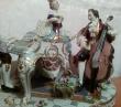 купить фарфор, композиция фарфоровая, музыкальная группа, дама и два кавалера, галантная сцена фарфоровая, фарфор Германия Альтесте Фольксштедт (Aelteste Volkstedt)