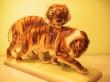 купить фарфоровую фигуру, фигура пара тигров, тигры фарфор,тигр керамика,  австрийская керамика (Austria Keramos Manufaktur ), фарфор Вена