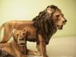 купить фарфоровую фигуру, фигура пара львов,  львы фарфор, лев керамика,  австрийская керамика (Austria Keramos Manufaktur ), фарфор Вена