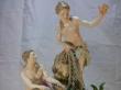 купить фарфор, статуэтка фарфоровая ловля тритонов, фарфор Meissen, Мейсен, рыболовная сеть, статуэтки фарфоровые, скульптор Кендлер, J. J., Kaendler