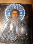 икона,  икона серебро, икона Господь Вседержитель, серебряная икона, купить икону, икона серебро  84°, русская икона